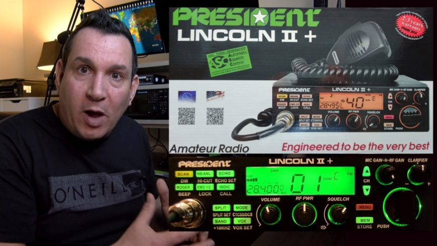 President Lincoln II + 10 and 12 metres mobile ham radio